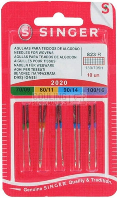 Singer Sewing Machine Needles 2020 Standard Assorted Mixed 10