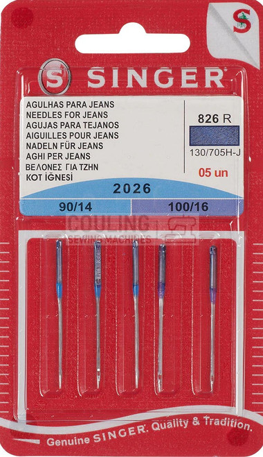 Singer Sewing Machine Needles 2026 5pk Jeans Mix 90,100