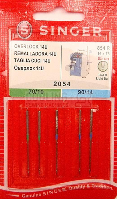 Singer Needles 2054 5pk Overlock Mix 70,90 14u