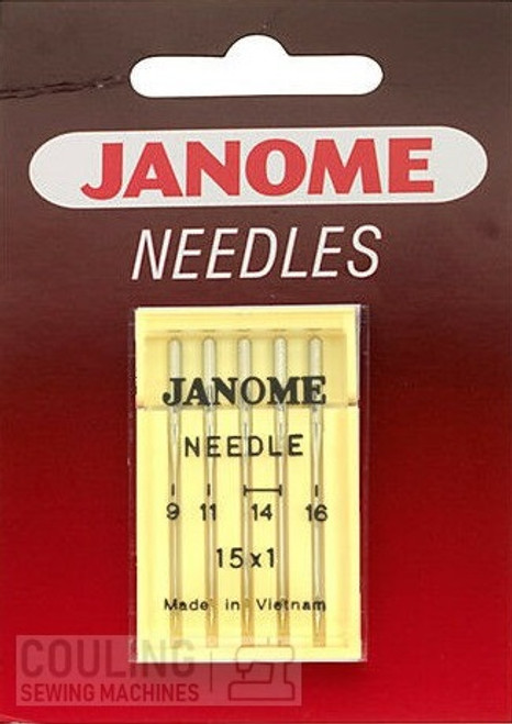Janome Needles Standard Mixed 9,11,14,16 5pk