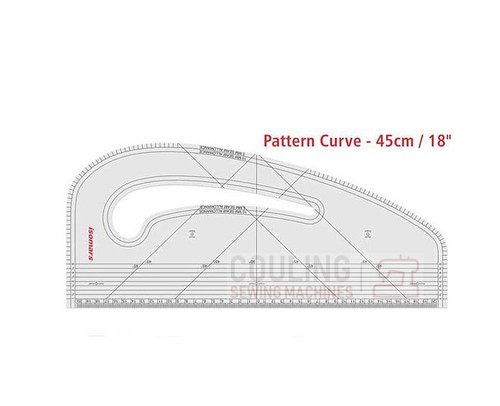 "Pattern Curve Ruler, For Pattern Drafting & Alterations 43 x 19cm 16"" x 7"" HPM1"