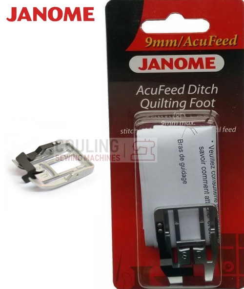 JANOME ACUFEED DITCH QUILTING FOOT SD - 202103006 9mm CATEGORY D