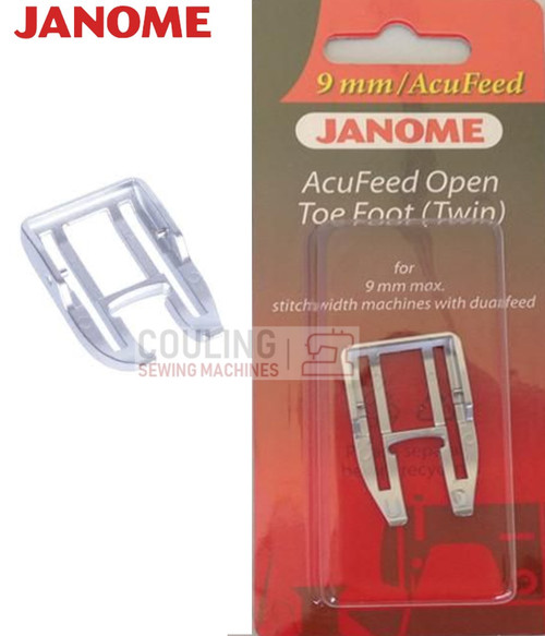 JANOME ACUFEED OPEN TOE FOOT TWIN UD - 202149004 9mm CATEGORY D