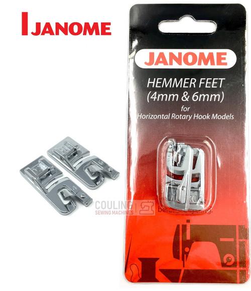 JANOME 4mm & 6mm HEMMER FOOT SET D1 & D2 - 200326001 -  CATEGORY B & C
