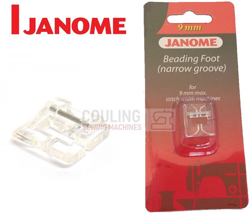 JANOME BEADING FOOT NARROW L1 - 202097006 9mm CATEGORY D