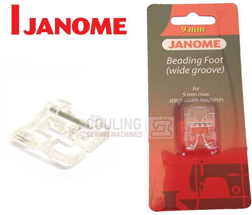 JANOME BEADING FOOT WIDE L2 - 202098007 9mm CATEGORY D