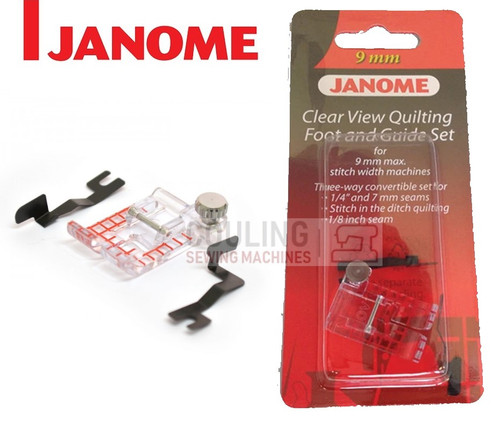 JANOME CLEAR VIEW QUILTING FOOT & GUIDE SET OV - 202089005 9mm CATEGORY D