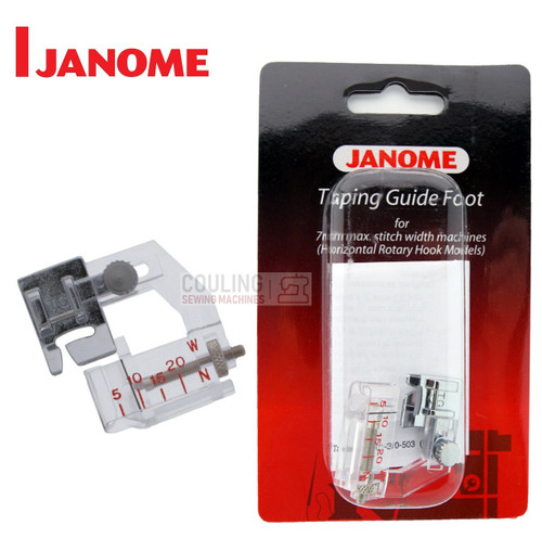 JANOME TAPING GUIDE FOOT TG - 202311009 -  CATEGORY B & C