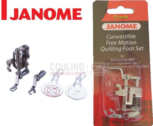 JANOME CONVERTIBLE FREE MOTION QUILTING FOOT SET - 202146001 9mm CATEGORY D