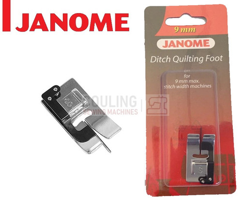 JANOME DITCH QUILTING FOOT S - 202087003 9mm CATEGORY D