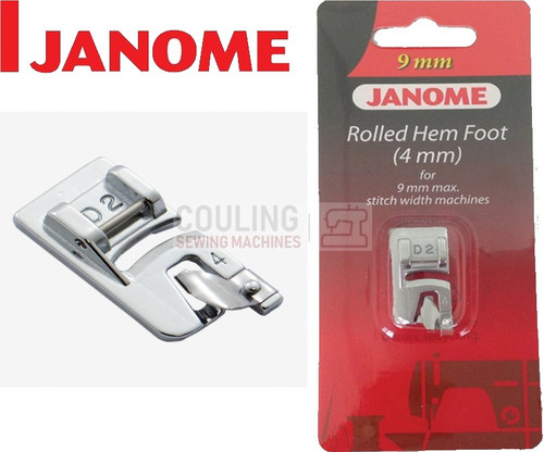 JANOME ROLLED HEM HEMMER FOOT 4mm D2 - 202081007 9mm CATEGORY D