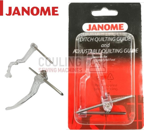 JANOME DITCH QUILT & ADJUSTABLE QUILTING GUIDE BAR SET - 214518005 CATEGORY A,B,C,D
