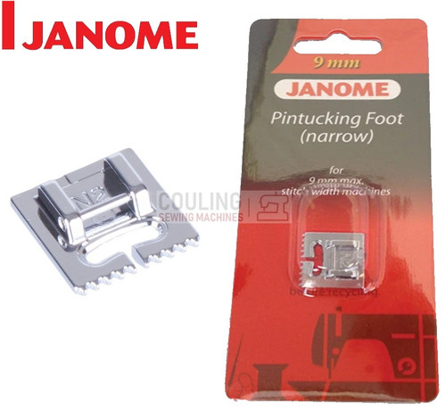 JANOME PIN TUCKING FOOT NARROW N2 - 202094003 9mm CATEGORY D