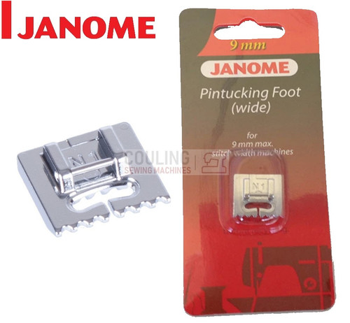 JANOME PIN TUCKING FOOT WIDE N1 - 202093002 9mm CATEGORY D