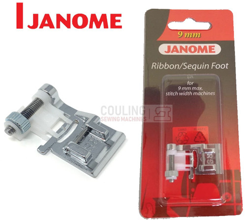 JANOME RIBBON & SEQUIN FOOT RS - 202090009 9mm CATEGORY D