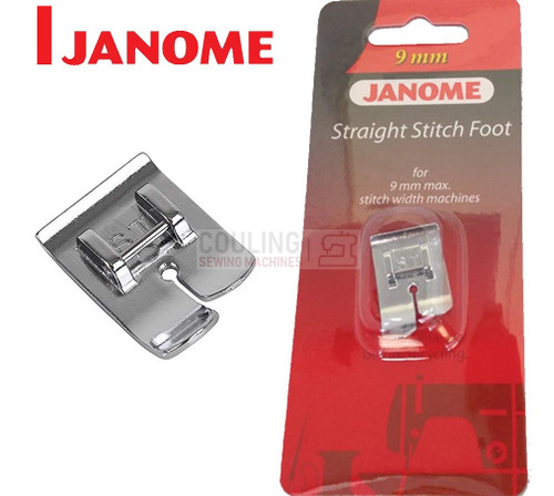 JANOME STRAIGHT STITCH FOOT ST - 202083009 9mm CATEGORY D