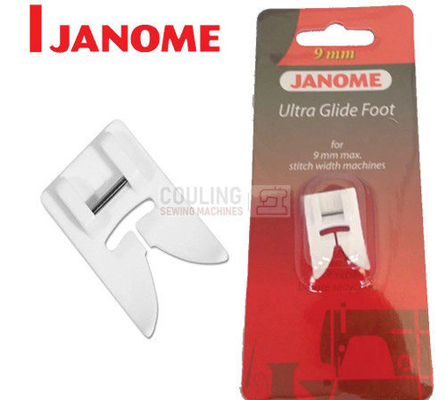 JANOME ULTRA GLIDE TEFLON FOOT - 202091000 9mm CATEGORY D