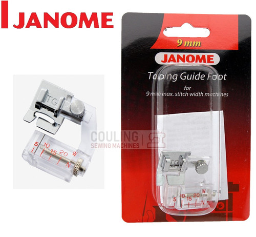 JANOME BIAS TAPING GUIDE FOOT TG - 202310008 9mm CATEGORY D