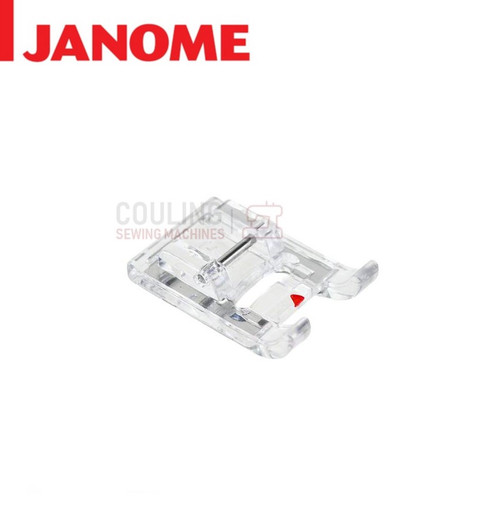 JANOME SATIN STITCH CLEAR CRAFT FOOT F - 859806011 9mm CATEGORY D