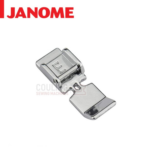 JANOME ZIPPER E FOOT - 859805009 9mm CATEGORY D
