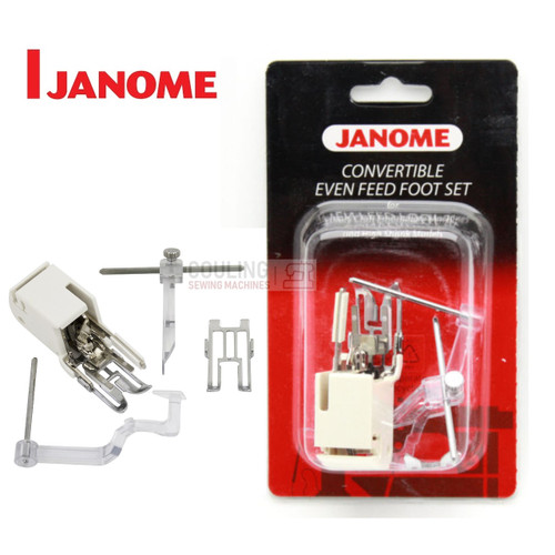 JANOME CONVERTIBLE EVEN FEED WALKING FOOT SET WITH QUILTING GUIDE - 214516003 - CATEGORY C
