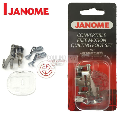 JANOME CONVERTIBLE FREE MOTION QUILTING FOOT SET - 202002004 - CATEGORY B