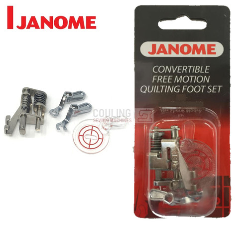 JANOME CONVERTIBLE FREE MOTION QUILTING FOOT SET - 202001003 - CATEGORY C