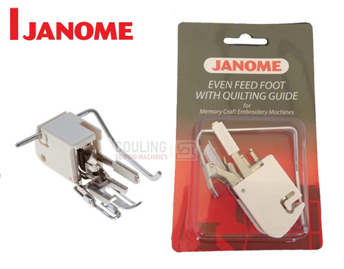 JANOME EVEN FEED WALKING FOOT WITH QUILTING GUIDE - 200309008 - CATEGORY C