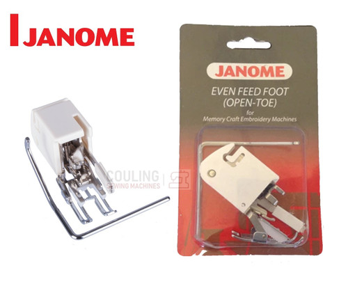JANOME OPEN TOE EVEN FEED WALKING FOOT WITH QUILTING GUIDE - 200338006 - CATEGORY C
