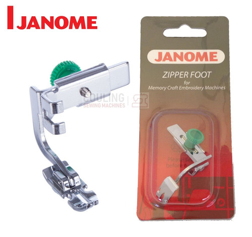JANOME ADJUSTABLE ZIPPER / PIPING FOOT (SCREW ON) - 200334002 - CATEGORY C