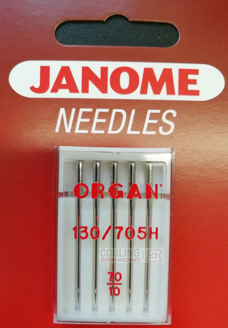 Janome Needles Standard Fine 70/10 5pk