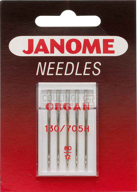 Janome Needles Standard Medium 80/12 5pk