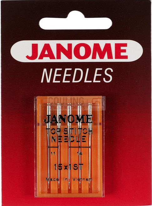 Janome Needles Top Stitch Mix 75/11, 90/14 5pk