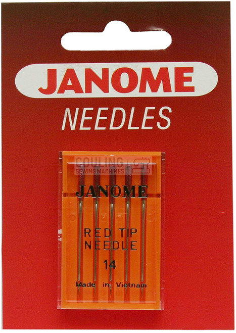 Janome Needles Red Tip 90/14 5pk