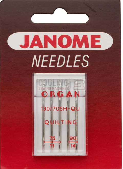 Janome Needles Quilting Mix 75/11, 90/14 5pk