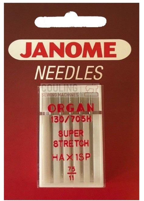 Janome Needles Overlock HAx1SP Super Stretch 75/11 5pk