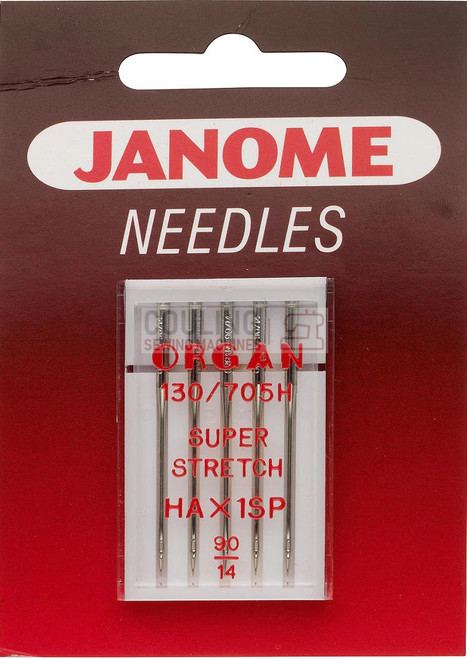 Janome Needles Overlock HAx1SP Super Stretch 90/14 5pk