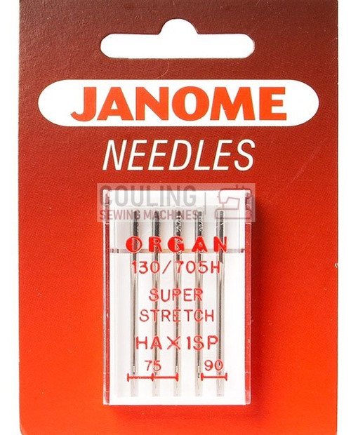 Janome Needles Overlock HAx1SP Super Stretch Mix 75/11, 90/14