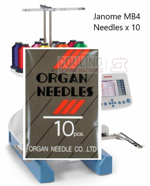Janome Needles MB4 Embroidery 75/11 Organ DBx5Q1 10pk