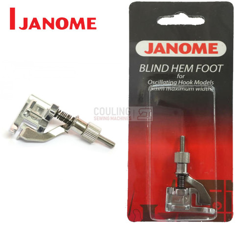 JANOME BLIND HEM FOOT ADJUSTABLE METAL- 200130006 - CATEGORY A