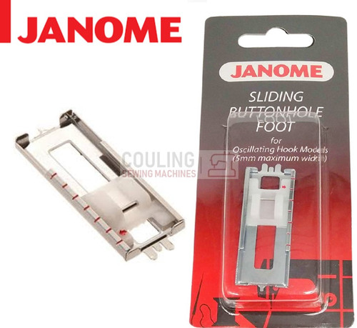 JANOME BUTTONHOLE SLIDING METAL FOOT - 200123006 - CATEGORY A