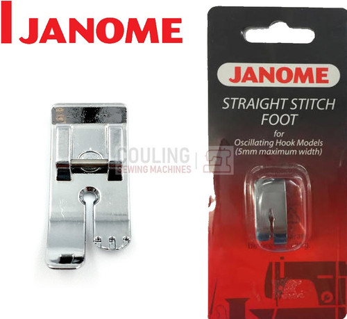 JANOME STRAIGHT STITCH METAL FOOT - 200125008 - CATEGORY A