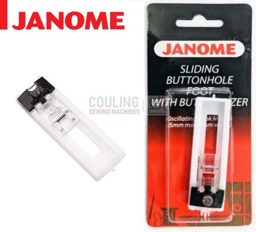 JANOME BUTTONHOLE SLIDING SIZER FOOT - 200134000 - CATEGORY A