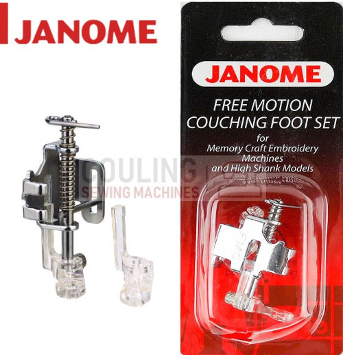 JANOME FREE MOTION COUCHING FOOT SET - 202110006 CATEGORY C & D