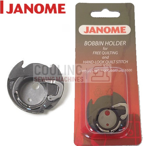 Janome Free Motion Quilting Bobbin Case - Blue Dot - 200445007