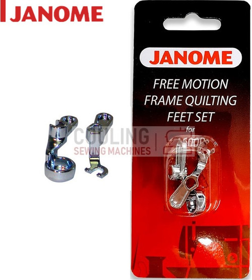JANOME HD9 1600p Convertible Free Motion Frame Quilting Foot Set - 767434005