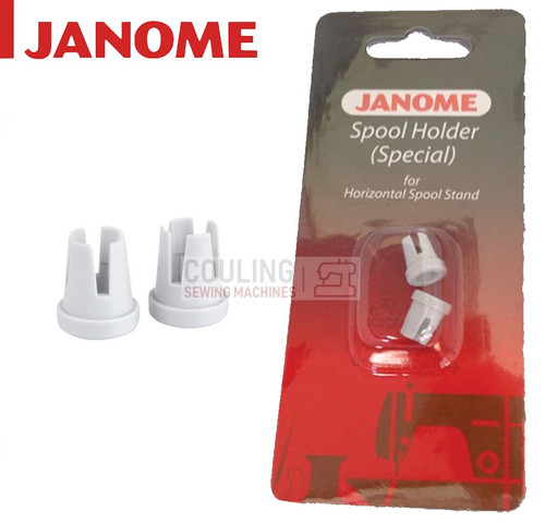 JANOME Sewing Machine Mini Small Special Spool Holder Cap x 2 Horizontal Pin