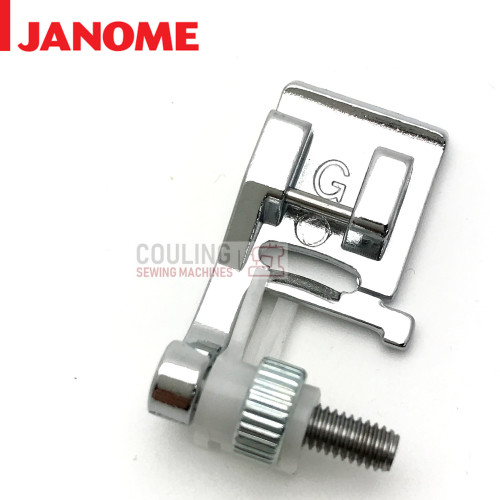 JANOME BLIND HEM ADJUSTABLE FOOT G - 820817015 - CATEGORY B & C
