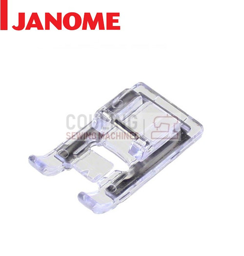 JANOME SATIN STITCH CLEAR FOOT F - 822804004 CATEGORY B & C