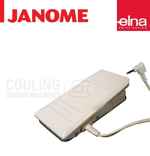Elna Foot Control White Metal type for computer machines 033570318